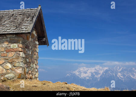 mountains alps hike go hiking ramble ruins sight view outlook perspective vista - Stock Photo