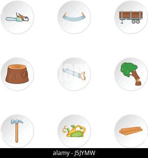 Cleaver icons set, cartoon style - Stock Photo