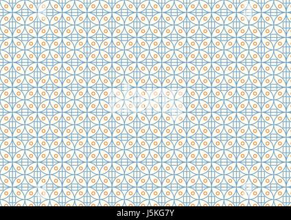 Sweet circle and square on light yellow background. Abstract seamless pattern style for design. - Stock Photo