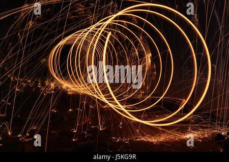 Fire Slinky - Stock Photo
