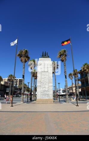 Pioneer memorial, Moseley Square, Glenelg, Adelaide, South Australia - Stock Photo