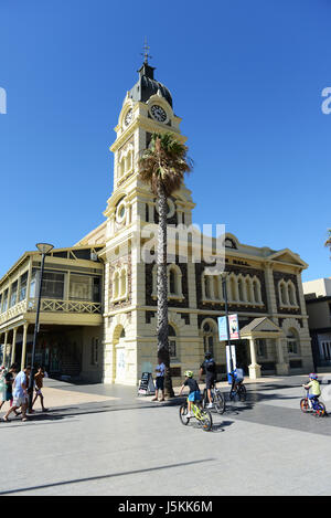 The beautiful Town Hall building at Glenelg's beach front. - Stock Photo