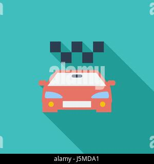 Taxi icon. Flat vector related icon with long shadow for web and mobile applications. It can be used as - logo, - Stock Photo