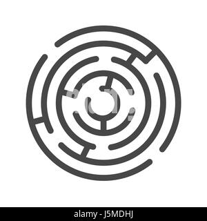 Labyrinth Thin Line Vector Icon. Flat icon isolated on the white background. Editable EPS file. Vector illustration. - Stock Photo
