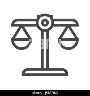 Libra Thin Line Vector Icon. Flat icon isolated on the white background. Editable EPS file. Vector illustration. - Stock Photo