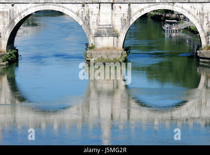 ponte sant'angelo in rome - Stock Photo