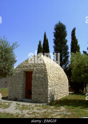 house building stone arch france Southern France Provence home flat apartment - Stock Photo
