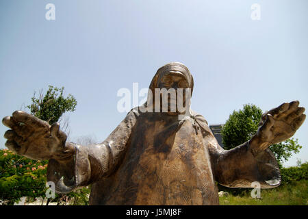 mother therea monument in tirana - Stock Photo