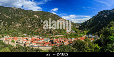 France, Pyrenees Orientales, Villefranche de Conflent, labelled Les Plus Beaux Villages de France (Most beautiful - Stock Photo