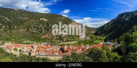 France, Pyrenees Orientales, Villefranche de Conflent, labelled Les Plus Beaux Villages de France (Most beautiful Villages of France)