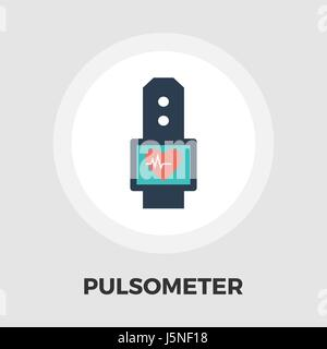 Pulsometer icon vector. Flat icon isolated on the white background. Editable EPS file. Vector illustration. - Stock Photo