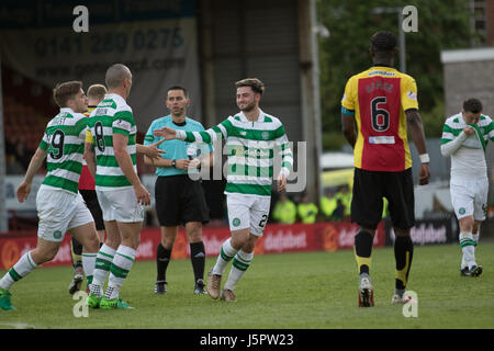 Glasgow, Scotland UK, 18 May 2017, Partick Thistle v Celtic, Firhill Stadium, SPFL Match 5-0. Scottish Premiership - Stock Photo
