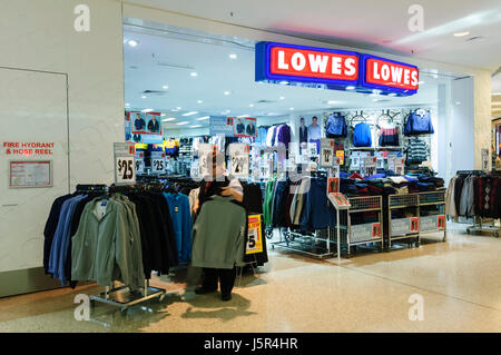 Storefront of Lowes clothes shop, New South Wales, NSW, Australia - Stock Photo