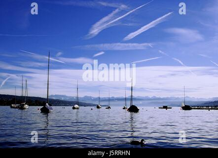 lake zurich - Stock Photo