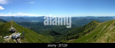 summer summerly valley sight view outlook perspective vista panorama lookout - Stock Photo
