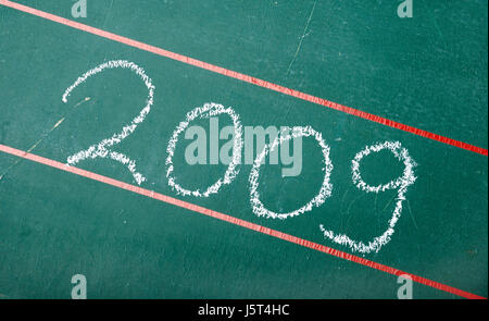 board silvester new year years year symbolic new written writing font - Stock Photo