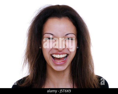 hearty laugh - Stock Photo