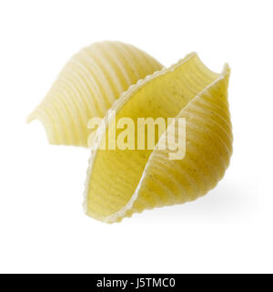 Food and drinks: green conchiglioni isolated, isolated on white background - Stock Photo