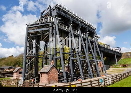 Anderton Boat Lift, near Northwich, Cheshire - Stock Photo
