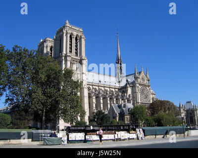 lady paris france world cultural heritage gothic metropolis cathedral - Stock Photo