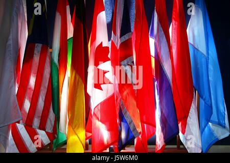 Photo of assorted flags of different countries - Stock Photo