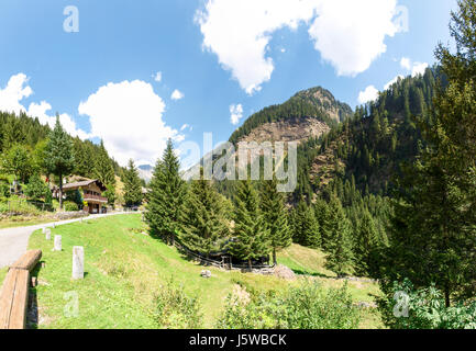 Val Calanca, Switzerland:  pictures of the wooded and steep valley - Stock Photo
