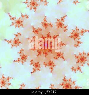 illustration stylish fractal backdrop background red bright design art - Stock Photo