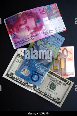 treasury notes bills international money finances bank lending institution - Stock Photo