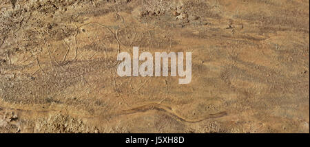 Fictional Mars Soil Panoramic Aerial View. Trace of Water on Mars - Stock Photo