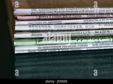 communication media newspapers press daily press coverage periodicals magazines - Stock Photo