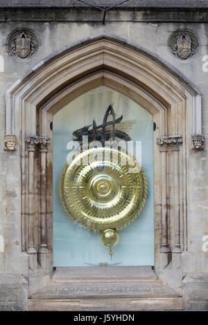 Chronophage, Corpus Clock, Corpus Christi College, Cambridge University - Stock Photo