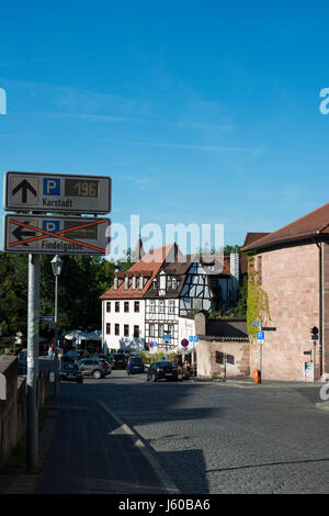 In der Nürnberger Innenstadt. Nuremberg, Bavaria, Germany - Stock Photo