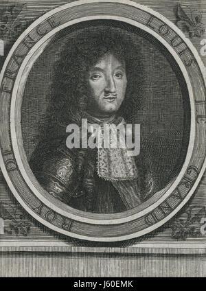 Louis XIV (1638-1715), King of France 1643-1715, Portrait - Stock Photo