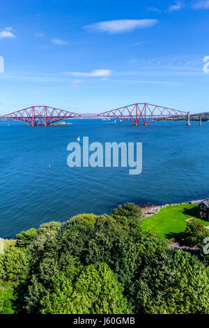 Forth Bridge, Edinburgh, Queensferry, Scotland, UK - Stock Photo