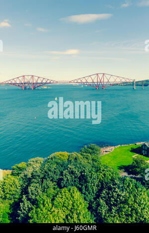 Forth Bridge, Edinburgh, Queensferry, Scotland, UK - Stock Photo
