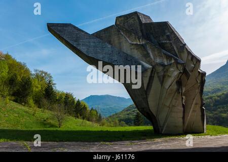 Sutjeska National Park, Bosnia and Herzegovina - 3 May 2015 - The World War II monument in Sutjeska National Park, - Stock Photo