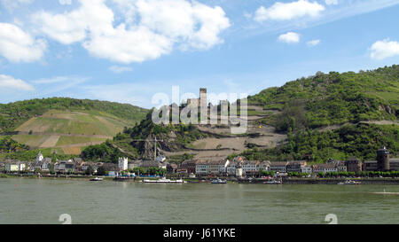 rhine vineyards valley world cultural heritage culture landscape loreley german - Stock Photo