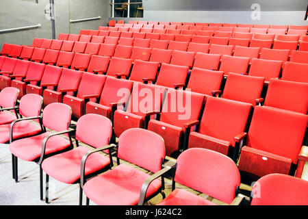 Indiana, IN, Upper Midwest, Hoosier State, Porter County, Valparaiso, Chicago Street Theatre, theater, community, playhouse, chair, seats, red, foldin