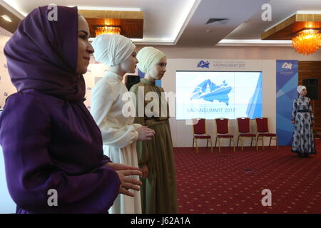 "Kazan, Russia. 19th May, 2017. Participants in the 9th International Economic Summit titled ""Russia — Islamic World: - Stock Photo"