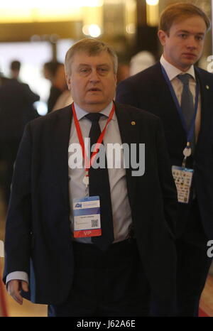 Kazan, Russia. 19th May, 2017. Svyazinvestneftekhim General Director Valery Sorokin attends the 9th International - Stock Photo