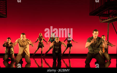 Hong Kong, China. 19th May, 2017. Actors perform broadway musical 'West Side Story' at the Lyric Theatre of the - Stock Photo