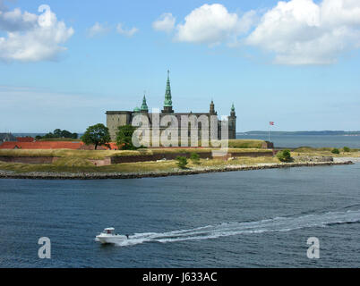 kronborg castle in helsingor - Stock Photo