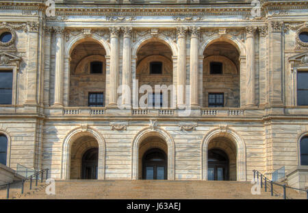 entrance politics government capitol building stairs detail arch entrance style - Stock Photo