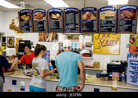 Bushwick Car Service >> Order here sign in restaurant Stock Photo, Royalty Free ...