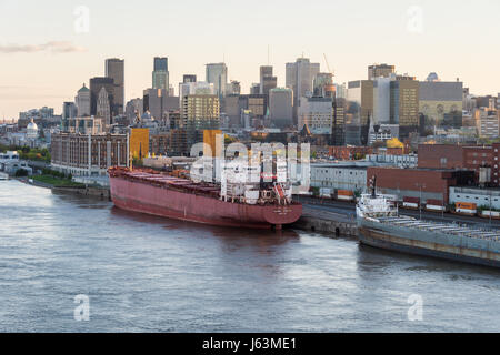 MONTREAL, CA - 15 May 2017.View of Montreal from Jacques Cartier Bridge - Stock Photo