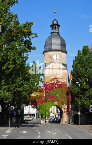 gate in coburg - bavaria - Stock Photo
