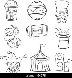 ... Doodle circus with ball tent hat - Stock Photo  sc 1 st  Alamy & Cartoon animal circus with circus tent Stock Vector Art ...