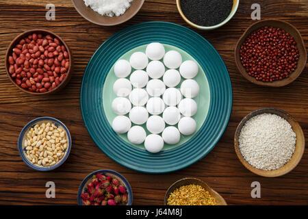 Glutinous Rice Balls for Lantern Festival - Stock Photo