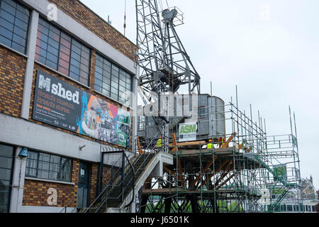 ... Canopy and Stars by Sawdays Treehouse on a crane in Bristol Harbour England UK - Stock & Canopy and Stars by Sawdays Treehouse on a crane in Bristol ...