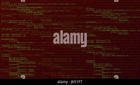 Abstract background with program code. Vector illustration - Stock Photo